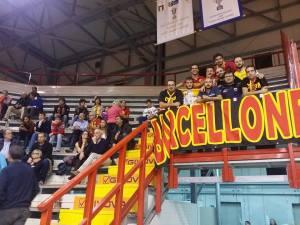 I tifosi di Barcellona presenti a Napoli