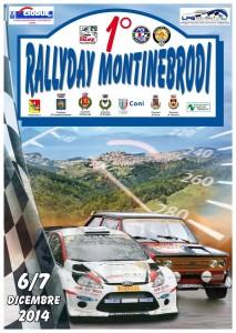 La locandina del 1° RallyDay Monti Nebrodi