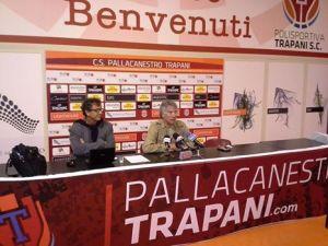 Il Gm di Trapani Julio Trovato in conferenza stampa