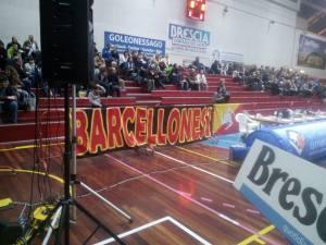 I tifosi di Barcellona presenti a Brescia