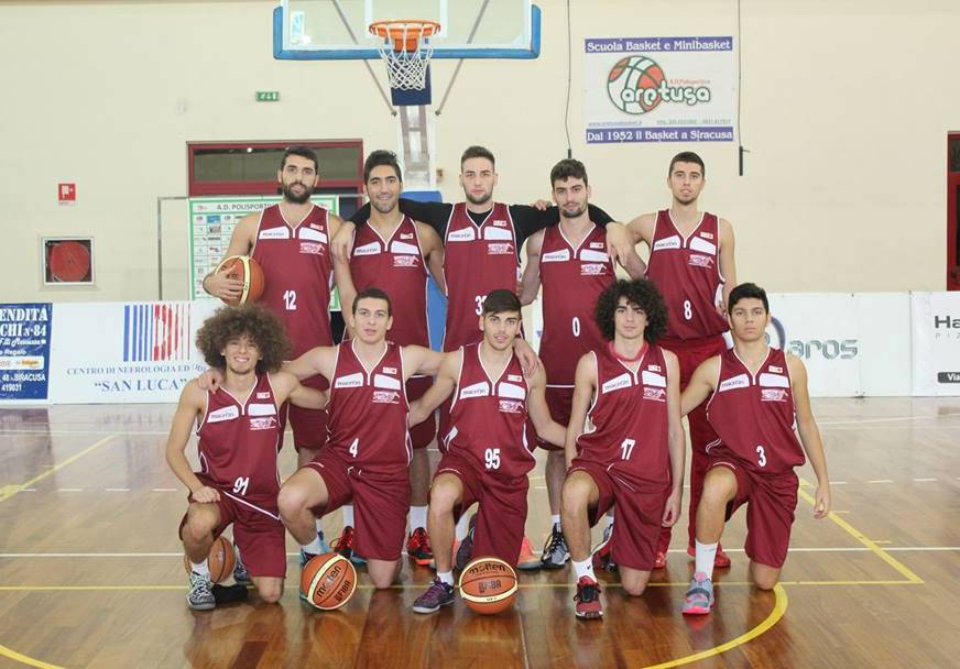 Il team del Basket Acireale