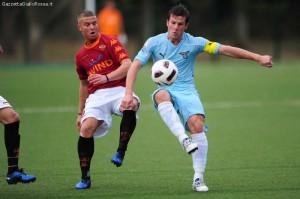 Ciciretti in azione nel derby con la Lazio