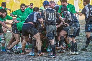Clan Messina - Nissa Rugby - una fase del match (Foto Giovanni Mazzullo)