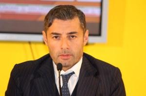 Un primo piano del direttore sportivo del Messina Danilo Pagni