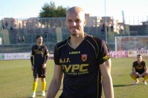 Il croato Ivan Rajcic con la maglia del Benevento