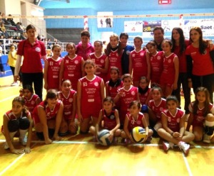 Le giovanissime atlete dell'Effe Volley S. Teresa