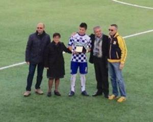Lucarelli premiato prima della gara con il Cefalù