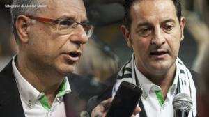 L'allenatore Nino Molino e il presidente Gianstefano Passalacqua