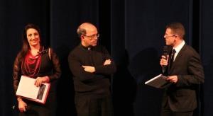 Silvana Paratore, Padre Tripodo (dir. Caritas) e Fortunato Marino