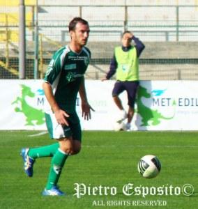 Roberto Cardinale in azione con la maglia dell'Avellino. Un nuovo nome affiancato al Messina