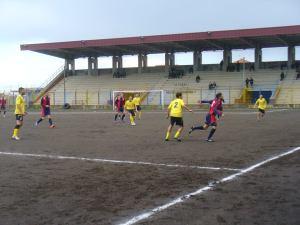 Una fase del match di Coppa tra Giarre e Milazzo