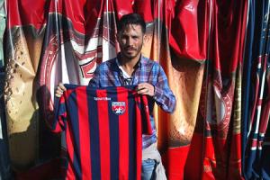 Danilo Alessandro con la maglia del Taranto
