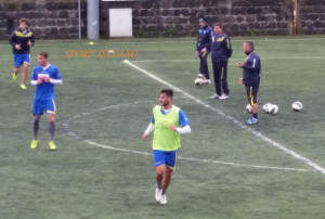 Una fase degli allenamenti di preparazione in vista del Messina
