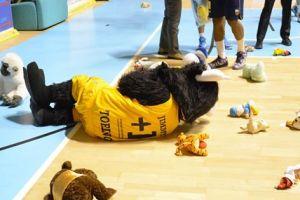 Teddy bear toss nache al PalaRuffini di Torino