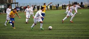 Una fase del match tra Città di Messina e Scordia