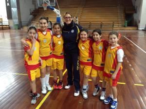 I giovani cestisti del Centro Minibasket Basket Eolie