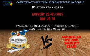 Locandina del match tra Svincolati e Maurilio Milone