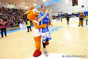Matteo Soragna e la mascotte paladina
