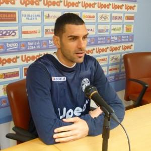 Il capitano Matteo Soragna in conferenza stampa
