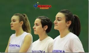 Cannizzaro, Oliveri e Mento, alcune delle atlete Under18 del Messina Volley