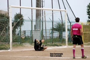 Cefalù-Iniziativa 3-0, il gol di D'Amico su rigore