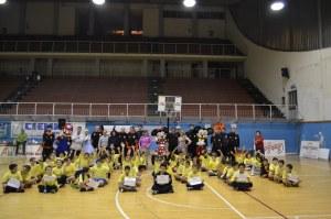 """Tutti i partecipanti alla """"Festa Minibasket Enrico Vinci"""""""