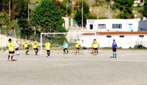 Real Filicudi - Contesse 0-1. Una fase della gara