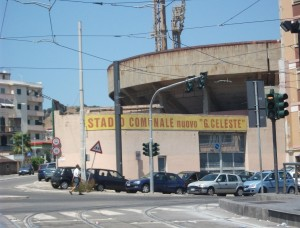 Gli esterni dello stadio Giovanni Celeste