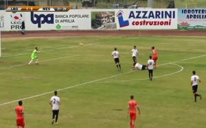Il gol di Leccese per il momentaneo 1-0