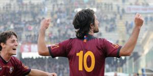 Mancini celebra una rete realizzata contro il Barletta