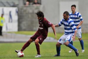 Manuel Mancini in azione con la divisa della Salernitana