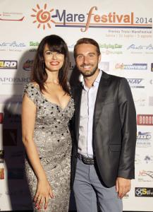 L'attrice Maria Grazia Cucinotta ed il giornalista Massimiliano Cavaleri