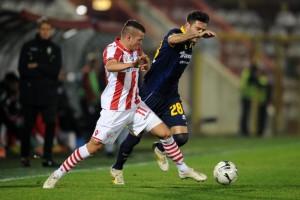 Spiridonovic in azione con la maglia del Vicenza
