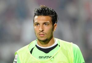 Un primo piano del portiere Alessandro Berardi, che ha collezionato tre presenze a Grosseto in stagione