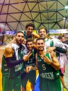 Il quintetto del Green Basket Palermo