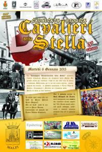 La locandina ed il programma della 3° edizione della Cavalcata Storica dei Cavalieri della Stella