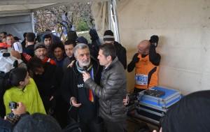 Il sindaco Renato Accorinti alla partenza della maratona, poi annullata