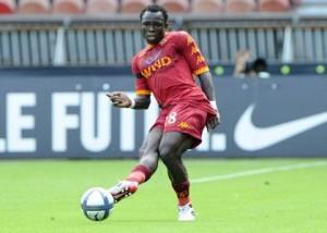 Barusso con la maglia della Roma in occasione di una sfida con il Bordeaux