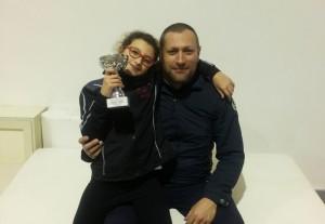Il maestro Cutugno con Alba Fanara