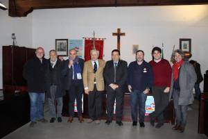 Gli organizzatori della Targa Florio: Meli, Ognibene, Tumminello, Rogano, Lapunzina, Pizzuto, Cecchetti e Cascino