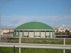 Vista esterna del Palasport di Milazzo