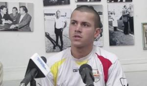 Un primo piano di Spiridonovic, nuovo attaccante esterno messo a disposizione del tecnico Grassadonia