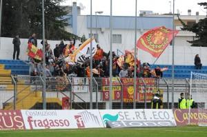 La consistente rappresentanza di tifosi del Messina