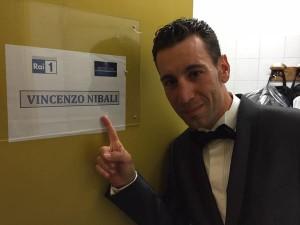 Vincenzo Nibali nel camerino che la Rai gli ha riservato