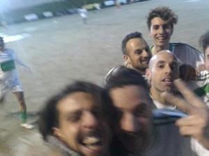 Il selfie dopo la rete di Giorgianni