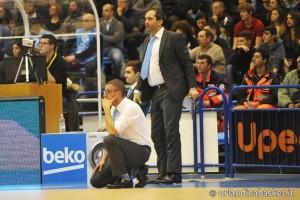 Giulio Griccioli e l'assistant coach Di Carlo