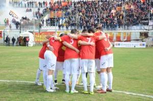 Il Messina prima del calcio d'inizio