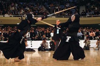 Un combattimento di kendo