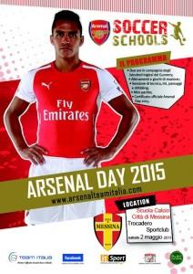 La locandina dell'Arsenal day
