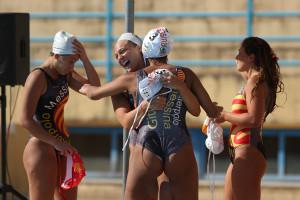 WP Messina - Orizzonte Catania. La gioia delle peloritane a fine partita (foto Roberta Fazio)